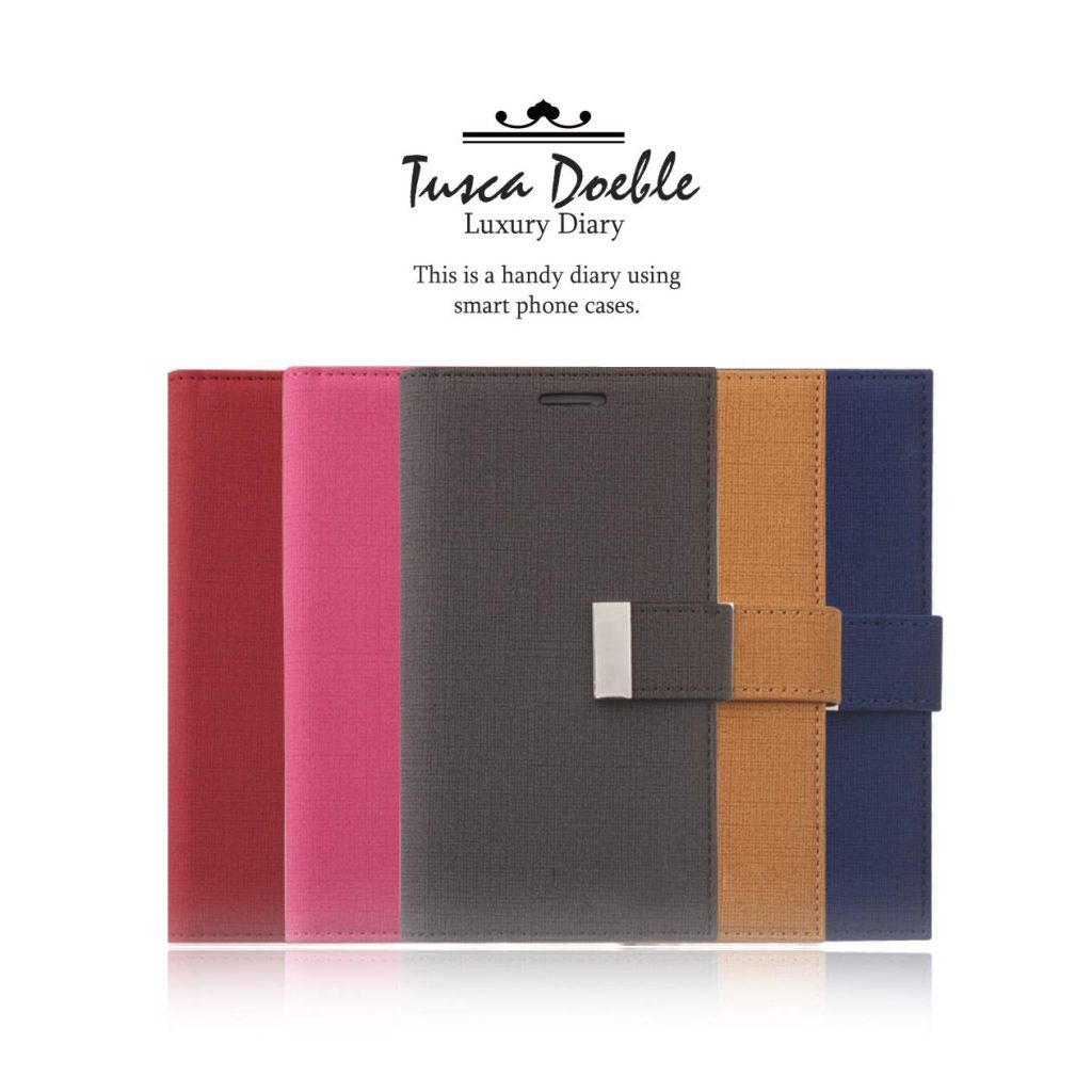 Tosca Diary 6 Cards Wallet Cases for iPhone 7 Plus & iPhone 8 Plus