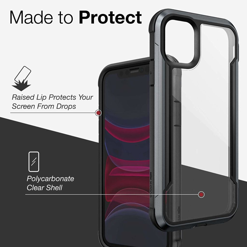 Defense Shield, iPhone 11 Case – Military Grade Drop Tested, Anodized Aluminum, TPU, and Polycarbonate Protective Case for Apple iPhone 11