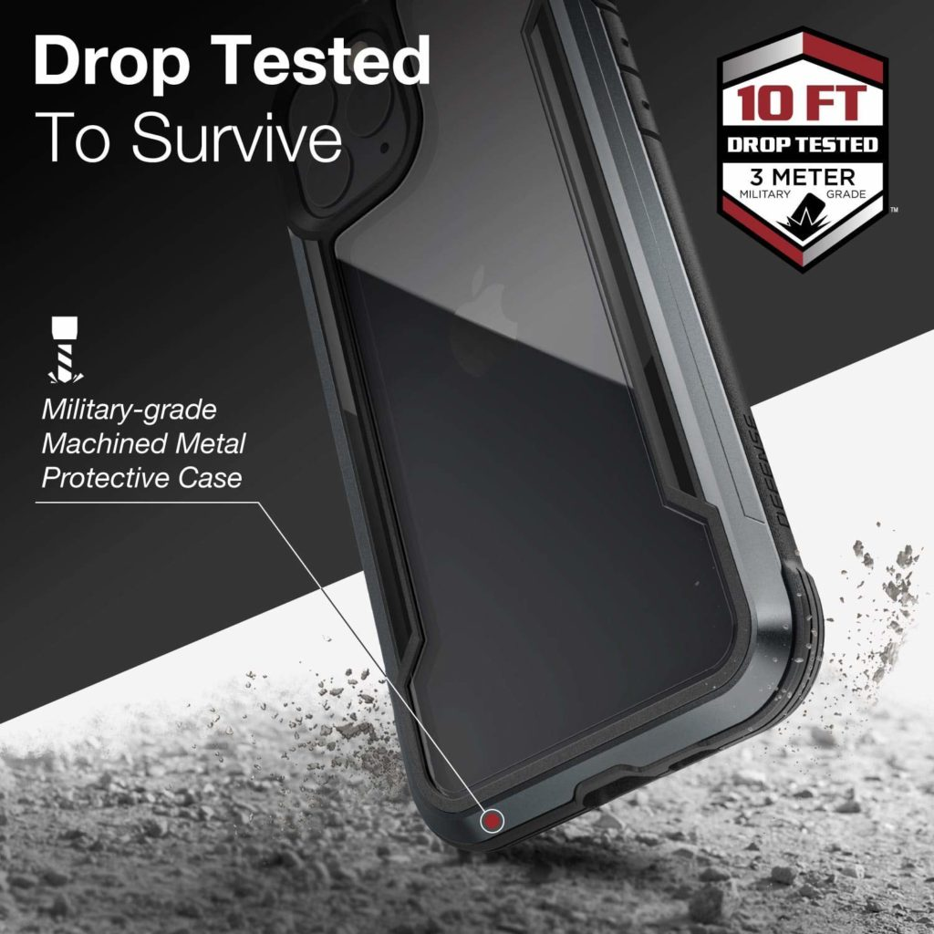 Defense Shield, iPhone 11 Pro Case – Military Grade Drop Tested, Anodized Aluminum, TPU, and Polycarbonate Protective Case for Apple 11 Pro