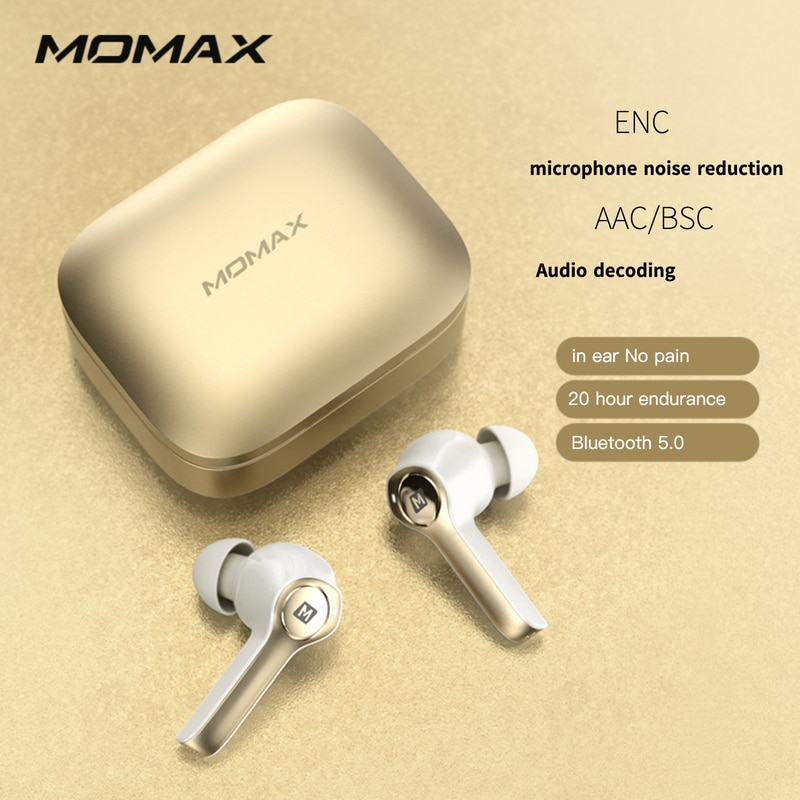 Momax SPARK WS Wireless Headphones Earphones sport Earbuds HeadsetSupport iOS/AndroidCharging Box