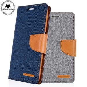 Goospery canvas diary card wallet case cover for i12 5.4/6.1/6.7